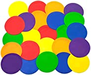 Ace Creations 9 Inch Poly Vinyl Spot Markers – for Training and Drills – Set of 24 – Four of Each Red, Green,
