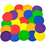 Ace Creations 9 Inch Poly Vinyl Spot Markers – for Training and Drills – Set of 24 – Four of Each Red, Green, Orange, Purple,