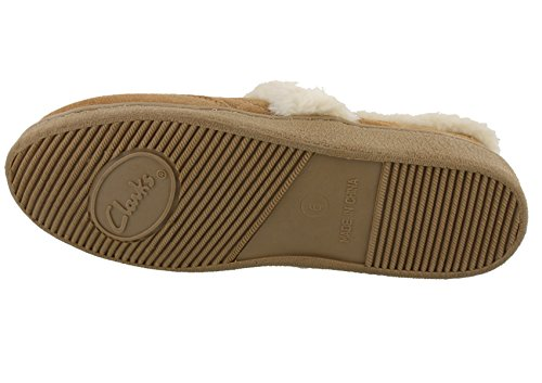 Clarks Closed Back Quilted Slippers Bella Women's Cinnamon rq7rF1