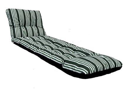 Amazon.com: Deluxe grueso colchón cojín de tumbona de jardín ...