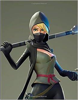 Fortnite - Blonde Ninja Girl Notebook: Wide Ruled Writers ...