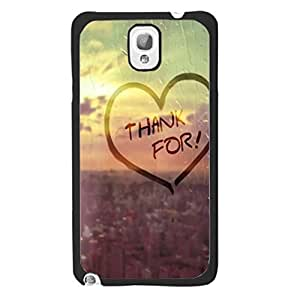 Hard Plastic Case Monogrammed Raindrop Love Heart Shape Design Sunrise Case Cover for Samsung Galaxy Note 3 N9005 Back Cell Phone Cover Skin