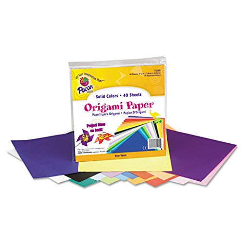 """PAC72200-9 x 9"""" - PaconOrigami Paper - Pack of 40"""
