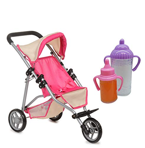 Exquisite Buggy, My First Doll Jogger Stroller - Soft Pink &