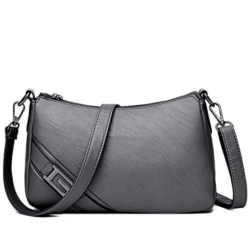 (Hot Leather Luxury Handbags Women Bags Designer Handbags Crossbody Bags Women Shoulder Messenger Bag,GRAY,Mini(Max Length<20cm))
