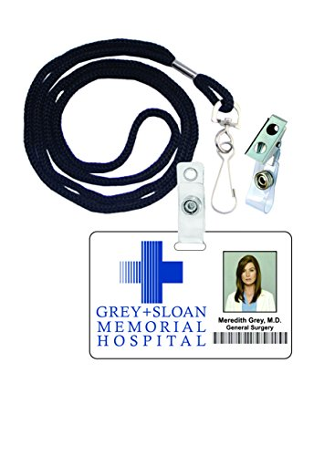 Meredith Grey, Grey's Anatomy Novelty ID Badge Film Prop for Costume and Cosplay • Halloween and Party Accessories - Ellen Costumes For Halloween