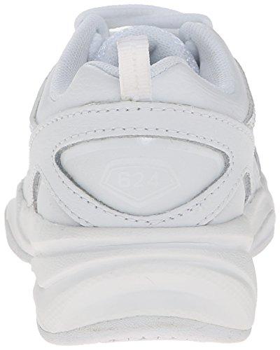 NEW BALANCE - Grauer Schuh für die Wiege mit Schnürsenkel, aus Wildleder und Synthetik, seitlich ein Logo und Stoffsohle, Jungen White