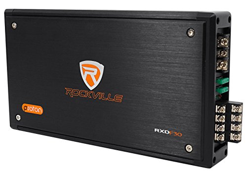 Rockville RXD-F30 Micro Car/ATV Amplifier 2400w Peak 4 Channel 4x150W/CEA -