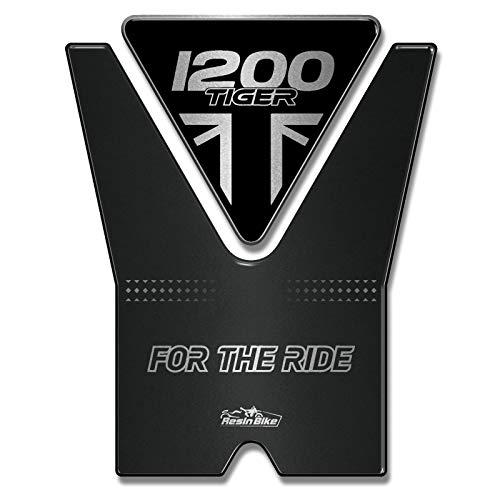 3D-tankpad compatibel met Triumph Tiger 1200 2020 Jet Black