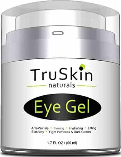 Best Eye Gel for Wrinkles, Dark Circles, Under Eye Puffy Bags, Crepe Eyes, Super Eye Cream Moisturizer Serum for Men & Women - 1.7 fl oz