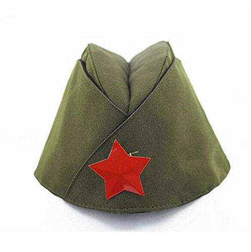 Russian Army Cap Tricorne Green Camo Bonnet Star Logo Women Sailor Military Stage Performance Dance Hats Chinese Boat Caps 4