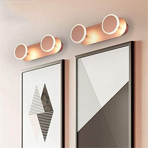 HIZLJJ 主導の浴室ミラーライトピクチャーメイクアップ照明浴室の壁ランプバスミラーライト防水アンチフォグLEDウォールランプ北欧アクリルローズゴールドバニティミラーヘッドライトのベッドルームの照明器具