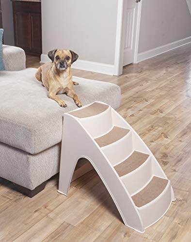 (PetSafe Solvit PupSTEP Lite Pet Stairs, Steps for Dogs and Cats, Best for Small to Medium Pets, Non-Fold Design)
