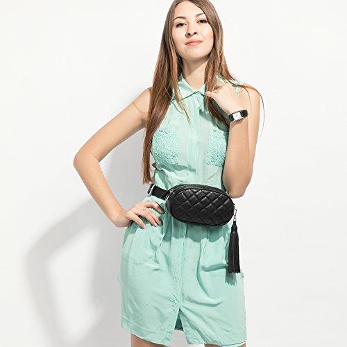 de moda Negro funciones viaje borla para de de patrón bolsa Bolso diamante Fanny cintura ajustable las … de Bumbag cinturón la con mujeres Pack múltiples pequeño bolsa RFTq8wY