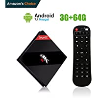 EstgoSZ 3GB / 64 GB Smart TV Box Android 7.1 OS, Amlogic S912 Octa Core 64 bits with BT 4.1 Dual Band WiFi 2.4G/5.0 GHz 1000M LAN Mini PC Google Android Internet Set Top Box