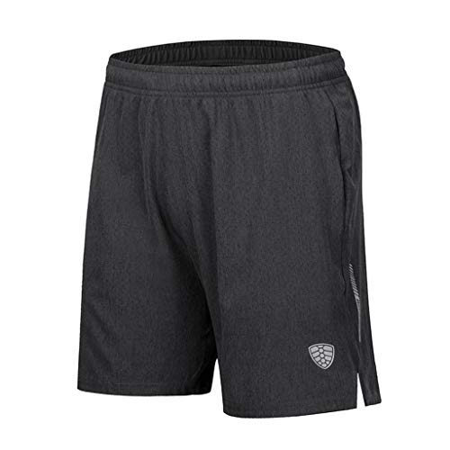 Breathable Sports Shorts for Men, Huazi2 Running Yoga Hiking Solid Pants Dark Gray