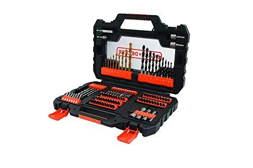BLACK+DECKER Kit de Furar e Parafusar com Maleta 104 Peças para Furar e Parafusar A7230-XJ