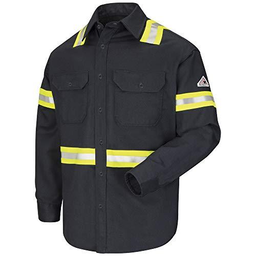 Bulwark FR EXCEL FR® Comfortouch® Enhanced Vis Uniform Shirt - Navy (X-Large-Long)