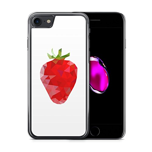 iPhone 7 Hülle - Erdbeere Abstrakt - Hardcase Cover Case Handyhülle Schutz Schutzhülle Beere Beeren Früchte Frucht Abstract Strawberry