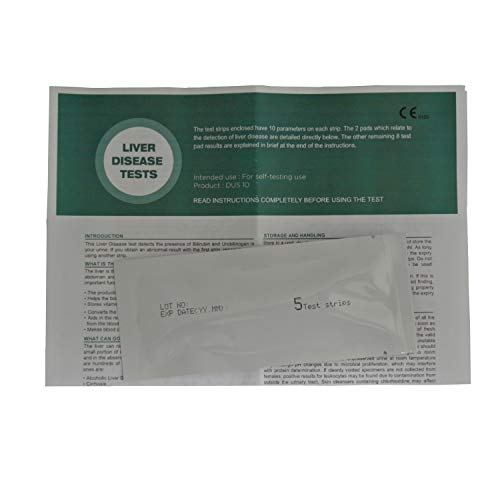 5 x Home Liver Function Test Kit - Urine Testing Strips - One Step®