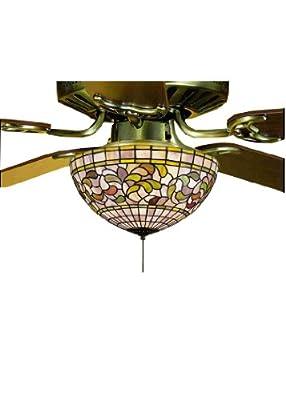 Victorian Tiffany Turning Leaf Fan Light Fixture