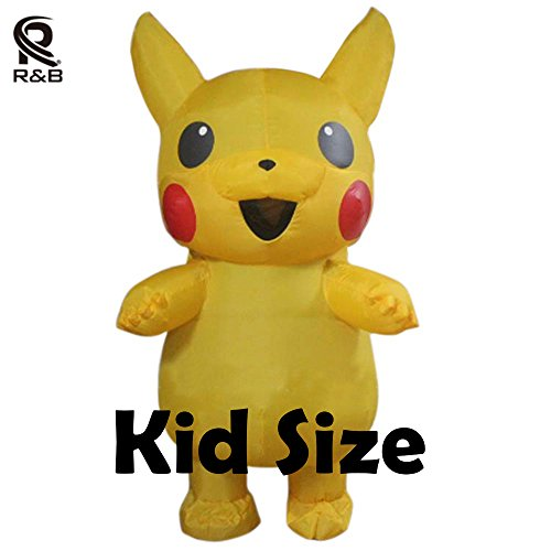Pikachu Inflatable Pokemon Outfits Costume For 0.9m-1.3m (Pikachu Halloween Costume Baby)