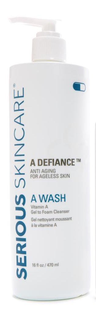 Serious Skincare A Wash Vitamin A Gel to Foam Cleanser - 16 Ounce - Packaging Varies