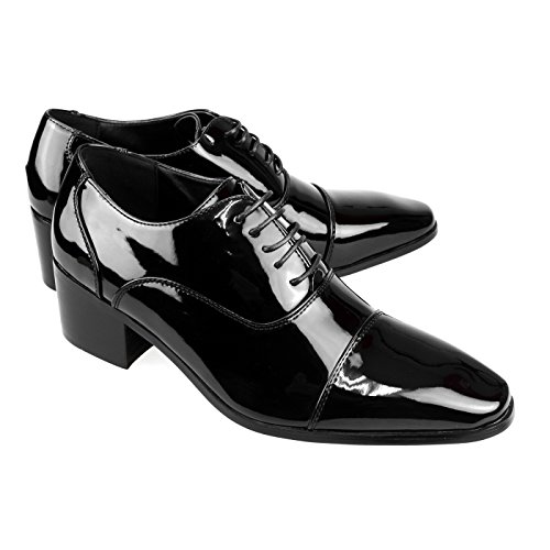 Dark Slipon Shoes Shoes Brown Laceup Mens Shoes Black White 1blackel Dress Gift ONE Yompt111 Oxford Shoes MM tcw7q1vtR