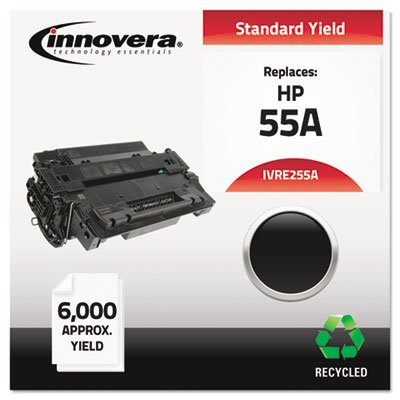 * E255A Compatible, Remanufactured, CE255A (55A) Laser Toner, 6000 Yield