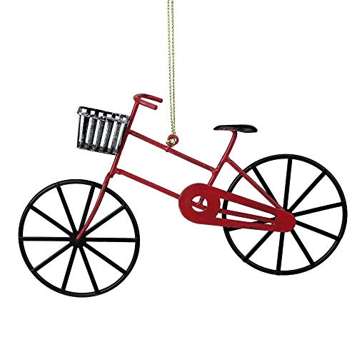 Northlight Red and Black Vintage Style Bicycle Christmas Ornament (Bicycle Ornament Holiday)