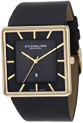 Stuhrling Original Men's 342.33351 Classic Ascot Saratoga Swiss Quartz Ultra Slim Date Gold Tone Watch