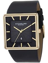 Stuhrling Original Men's 342.333554 Classic Saratoga Swiss Quartz Ultra Slim Date Black Watch