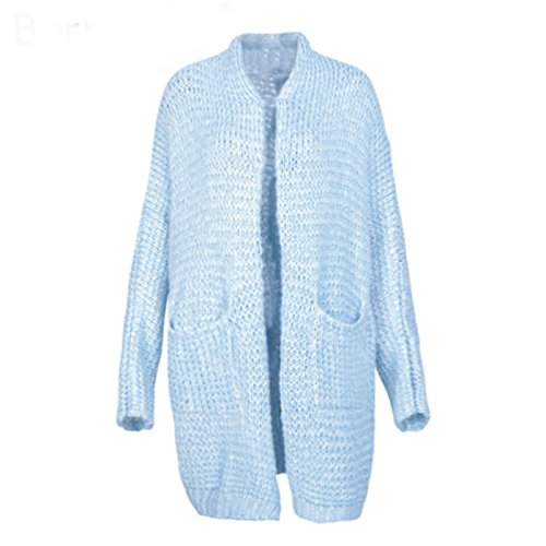 BlingNicer Good-looking Knitting long cardigan female Casual soft loose  plus size cardigan knitted sweater ced46133d