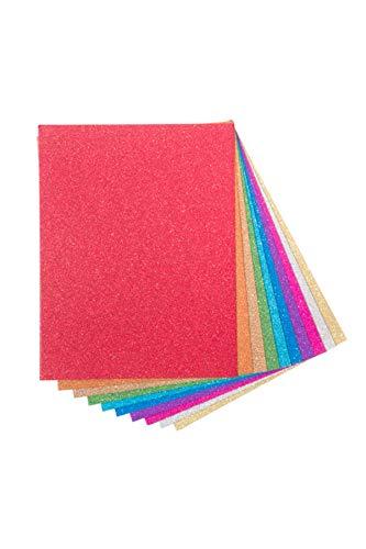 Darice Glitter Cardstock Paper Pack, Heavyweight 40 sheets Pack, 10 assorted - 40 Glitter
