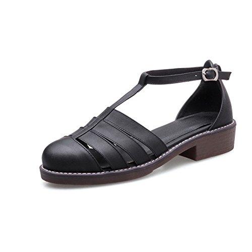 Negro Sandalias Mujer Con Cuña Adeesu OnR1Uwqn