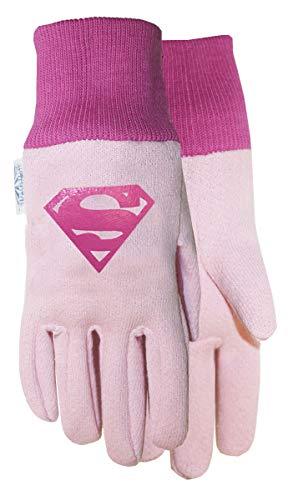 Midwest Gloves & Gear DCS102T-T-AZ-6 DC Comics, Kids Super Girl Jersey Glove, Size Toddler, Pink/Multicolor