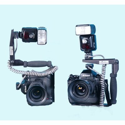DMKFoto Pivot Flash Mount Bracket for 35mm and DSLR Camera