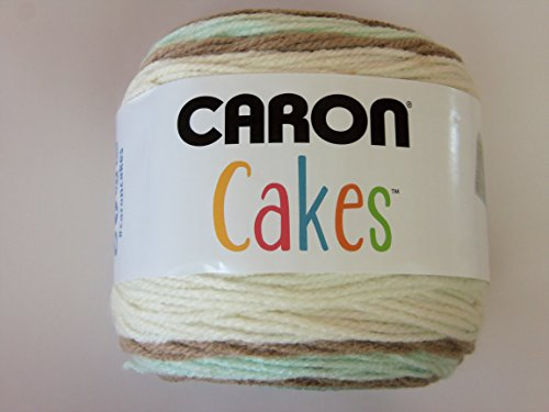 Caron Cakes Self Striping Yarn 383 yd 200 g (Chocolate Mint)