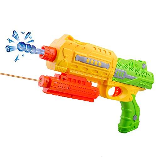 iPuzzle Foam Dart Gun Blaster,Water Gel Ball Spring Powered Blaster Gun,3 Suction Darts,Eco-friendly Water Balls,US Warranty,Green