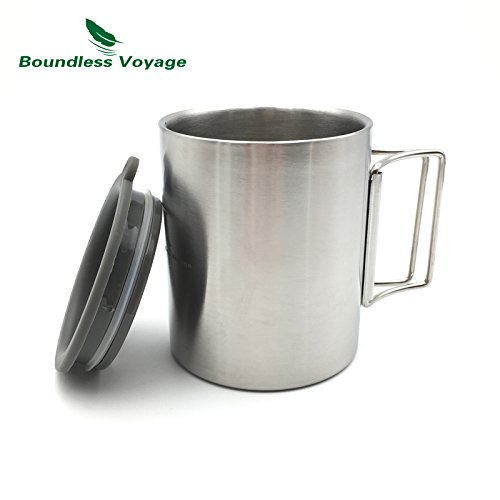 Boundless Voyage 220ml/300ml Outdoor Double-wall Stainless Steel Mug Travel Camping Backpacking Water Cup 220ml)