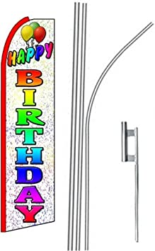 5 five HAPPY BIRTHDAY wh//rainbow 15 Swooper #4 Feather Flags KIT