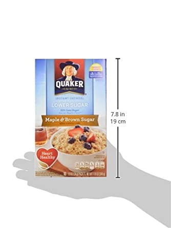 Quaker Instant Oatmeal Maple Brown Sugar, Lower Sugar, 10 ct ...