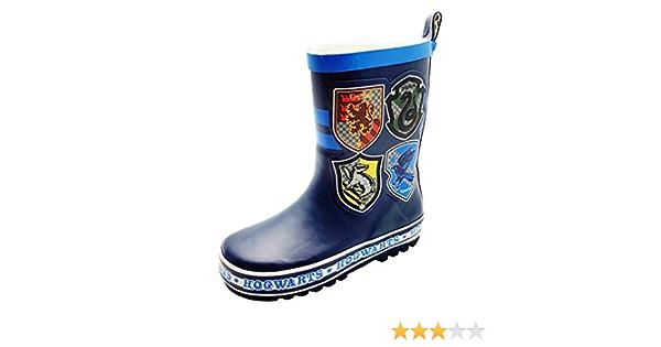 HARRY POTTER Boys Clark Wellington Boots Blue 8 UK Child