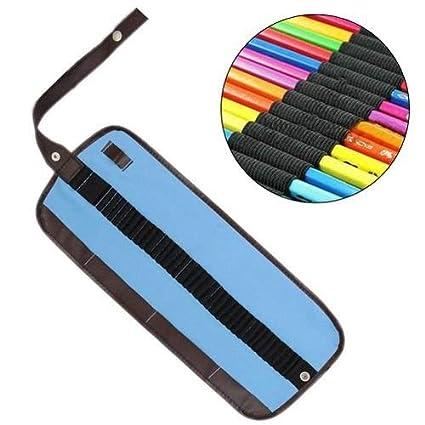 Estuche de lápices de colores, bolsa de lona para lápices ...