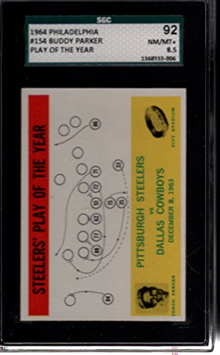1964 Philadelphia #154 Buddy Parker Steelers Play SGC 92 NMMT 8.5 30025