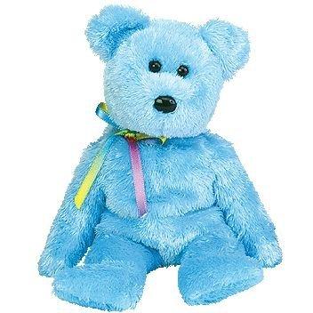 TY Beanie Baby - SHERBET the Bear (Blue Version)