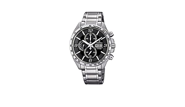 Amazon.com: Festina Timeless Chronograph F6861/4 Mens Chronograph Excellent readability: Watches