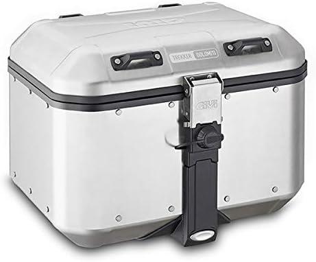 GIVI- Maleta para Moto Monokey DLM46A Trekker Dolomiti de Aluminio Natural, 46 litros
