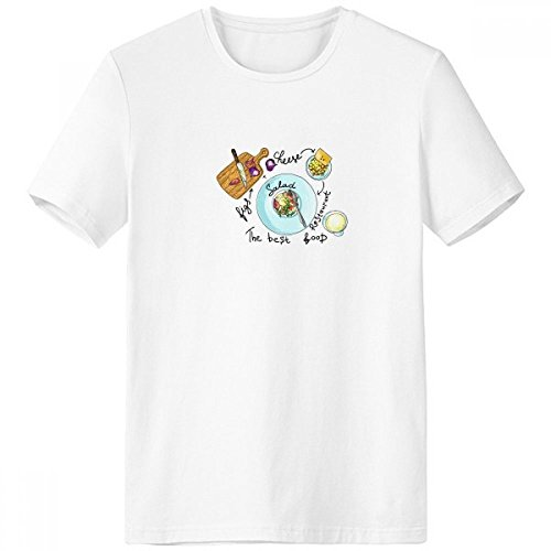 Salad Cheese Figs France Restaurant Crew-Neck White T-Shirt Spring Summer Tagless Comfort Sports T-Shirts Gift