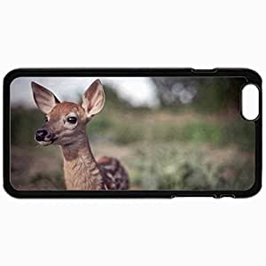 Customized Cellphone Case Back Cover For iPhone 6, Protective Hardshell Case Personalized Deer Black
